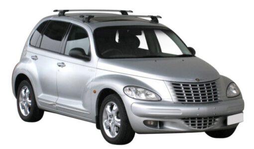 Whispbar Dakdragers Zilver Chrysler PT Cruiser 5dr Estate met Glad dak bouwjaar 2000-2010 Complete set dakdragers