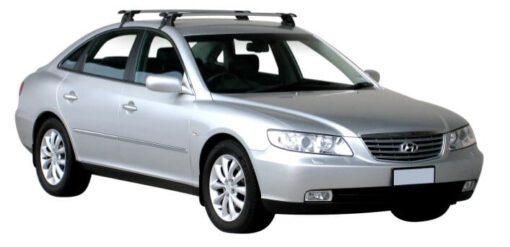 Whispbar Dakdragers Zilver Hyundai Grandeur 4dr Sedan met Glad dak bouwjaar 2005-e.v. Complete set dakdragers