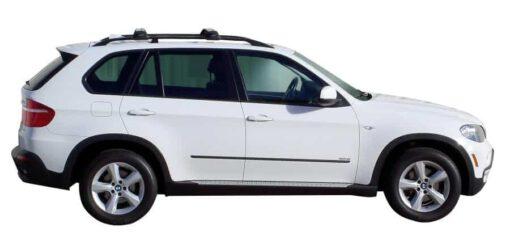 Whispbar Dakdragers Zilver BMW X5 E70 5dr SUV met Dakrails bouwjaar 2007-2013 Complete set dakdragers
