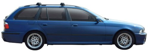 Whispbar Dakdragers Zilver BMW 5 Series E39 Touring 5dr Estate met Dakrails bouwjaar 2001-2003 Complete set dakdragers