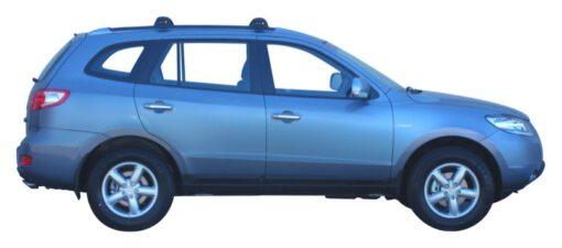 Whispbar Dakdragers Zilver Hyundai Santa Fe 5dr SUV met Geintegreerde dakrails bouwjaar 2006-2009 Complete set dakdragers