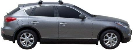 Whispbar Dakdragers Zilver Infiniti EX35 5dr SUV met Glad dak bouwjaar 2007-e.v. Complete set dakdragers