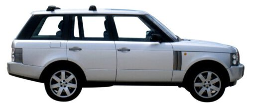 Whispbar Dakdragers Zilver Land Rover Range Rover 5dr SUV met Vaste bevestigingspunten bouwjaar 2002-2012 Complete set dakdragers