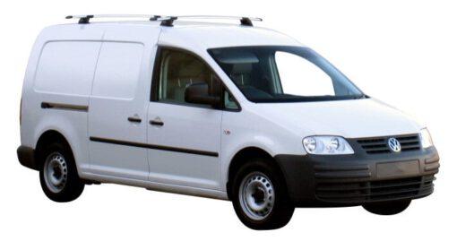 Whispbar Dakdragers Zilver Volkswagen Caddy Maxi 5dr Van met Vaste bevestigingspunten bouwjaar 2010-2015 Complete set dakdragers
