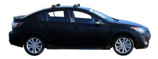 Whispbar Dakdragers Zilver Mazda 3 4dr Sedan met Vaste bevestigingspunten bouwjaar 2009-2013 Complete set dakdragers