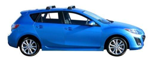 Whispbar Dakdragers Zilver Mazda 3 5dr Hatch met Vaste bevestigingspunten bouwjaar 2009-2013 Complete set dakdragers
