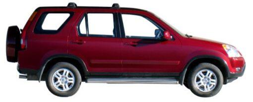 Whispbar Dakdragers Zilver Honda CR-V 5dr SUV met Track Mount bouwjaar 2002-2007 Complete set dakdragers