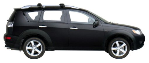 Whispbar Dakdragers Zilver Mitsubishi Outlander 5dr SUV met Dakrails bouwjaar 2005-2010 Complete set dakdragers