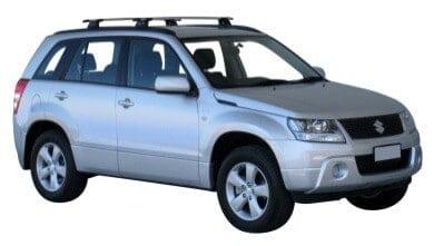 Whispbar Dakdragers Zilver Suzuki Escudo 5dr SUV met Geintegreerde dakrails bouwjaar 2005-2015 Complete set dakdragers