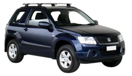 Whispbar Dakdragers Zilver Suzuki Escudo 3dr SUV met Geintegreerde dakrails bouwjaar 2005-2015 Complete set dakdragers