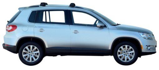 Whispbar Dakdragers Zilver Volkswagen Tiguan 5dr SUV met Dakrails bouwjaar 2008-2011 Complete set dakdragers