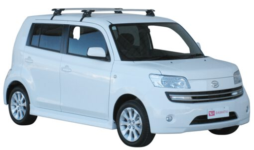 Whispbar Dakdragers Zilver Daihatsu Materia 5dr MPV met Glad dak bouwjaar 2006-e.v. Complete set dakdragers