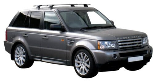 Whispbar Dakdragers Zilver Land Rover Range Rover Sport 5dr SUV met Vaste bevestigingspunten bouwjaar 2004-2012 Complete set dakdragers