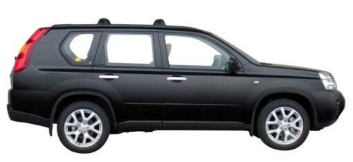 Whispbar Dakdragers Zilver Nissan X-Trail 5dr SUV met Flush Rail/Fixed Point bouwjaar 2007-2010 Complete set dakdragers