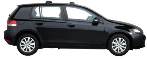 Whispbar Dakdragers Zilver Volkswagen Golf Mk6 5dr Hatch met Glad dak bouwjaar 2008-2012 Complete set dakdragers