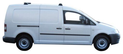 Whispbar Dakdragers Zilver Volkswagen Caddy 4dr Van met Vaste bevestigingspunten bouwjaar 2004-2014 Complete set dakdragers