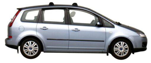 Whispbar Dakdragers Zilver Ford C Max 5dr MPV met Vaste bevestigingspunten bouwjaar 2003-2010 Complete set dakdragers