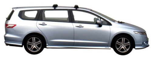 Whispbar Dakdragers Zilver Honda Odyssey 5dr MPV met Glad dak bouwjaar 2009-2013 Complete set dakdragers