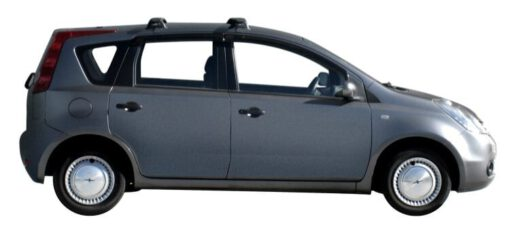Whispbar Dakdragers Zilver Nissan Note 5dr MPV met Glad dak bouwjaar 2004-2013 Complete set dakdragers