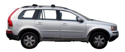 Whispbar Dakdragers Zilver Volvo XC90 5dr SUV met Dakrails bouwjaar 2003-2012 Complete set dakdragers