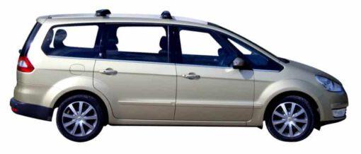 Whispbar Dakdragers Zilver Ford Galaxy 5dr MPV met Track Mount bouwjaar 2006-2009 Complete set dakdragers