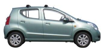 Whispbar Dakdragers Zilver Suzuki Alto 5dr Hatch met Glad dak bouwjaar 2009-2015 Complete set dakdragers