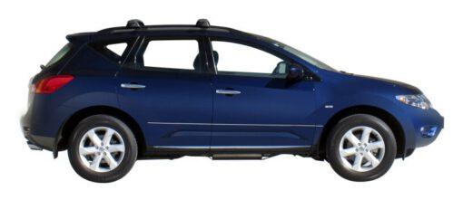 Whispbar Dakdragers Zilver Nissan Murano Mk2 5dr SUV met Dakrails bouwjaar 2009-e.v. Complete set dakdragers