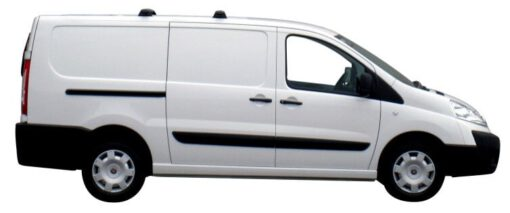 Whispbar Dakdragers Zilver Fiat Scudo 5dr Van met Vaste bevestigingspunten bouwjaar 2007-e.v. Complete set dakdragers