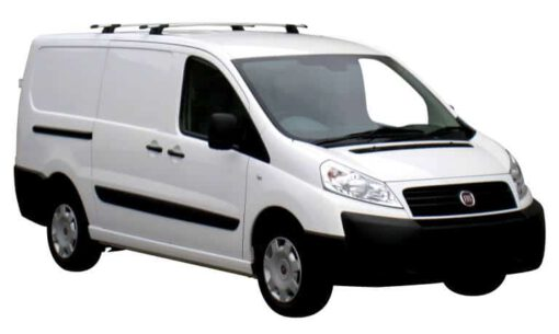 Whispbar Dakdragers Zilver Peugeot Expert 5dr Van met Vaste bevestigingspunten bouwjaar 2007-2015 Complete set dakdragers
