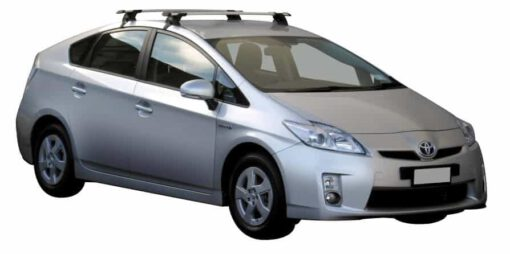 Whispbar Dakdragers Zilver Toyota Prius 5dr Hatch met Glad dak bouwjaar 2009-2011 Complete set dakdragers