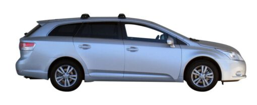 Whispbar Dakdragers Zilver Toyota Avensis 5dr Estate met Vaste bevestigingspunten bouwjaar 2009-e.v. Complete set dakdragers