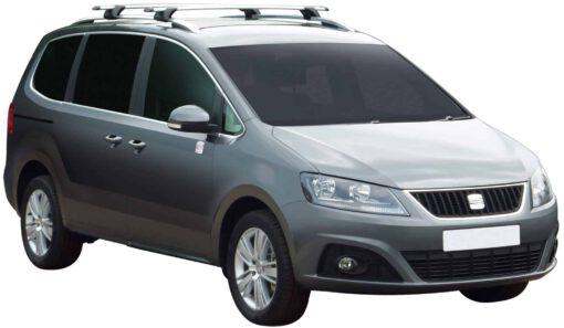 Whispbar Dakdragers Zilver Volkswagen Sharan 5dr MPV met Dakrails bouwjaar 2010-e.v. Complete set dakdragers