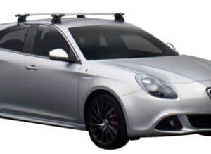 Whispbar Dakdragers Zilver Alfa Romeo Giulietta 5dr Hatch met Glad dak bouwjaar 2010-2013 Complete set dakdragers