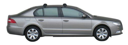 Whispbar Dakdragers Zilver Skoda Superb 4dr Sedan met Glad dak bouwjaar 2008-2015 Complete set dakdragers