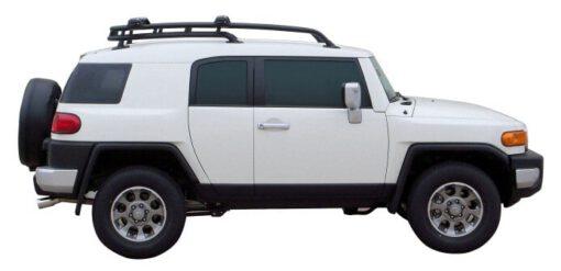 Whispbar Dakdragers Zilver Toyota FJ Cruiser 5dr SUV met Dakrails bouwjaar 2007-e.v. Complete set dakdragers