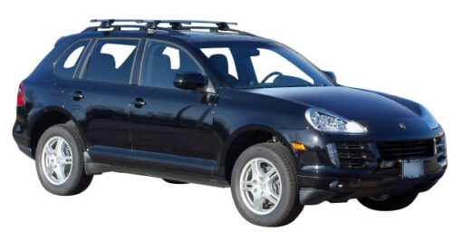 Whispbar Dakdragers Zilver Porsche Cayenne 5dr SUV met Dakrails bouwjaar 2002-2010 Complete set dakdragers