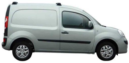 Whispbar Dakdragers Zilver Renault Kangoo Maxi 5dr Van met Vaste bevestigingspunten bouwjaar 2008-e.v. Complete set dakdragers