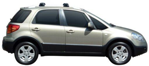 Whispbar Dakdragers Zilver Suzuki SX4 5dr Hatch met Dakrails bouwjaar 2006-2010 Complete set dakdragers