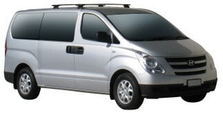 Whispbar Dakdragers Zilver Hyundai i800 5dr Van met Glad dak bouwjaar 2008-e.v. Complete set dakdragers