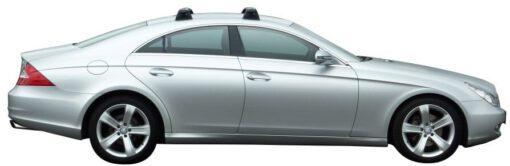 Whispbar Dakdragers Zilver Mercedes-Benz CLS W219 4dr Sedan met Vaste bevestigingspunten bouwjaar 2004-2010 Complete set dakdragers