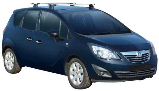 Whispbar Dakdragers Zilver Opel Meriva B 5dr MPV met Vaste bevestigingspunten bouwjaar 2010-2017 Complete set dakdragers