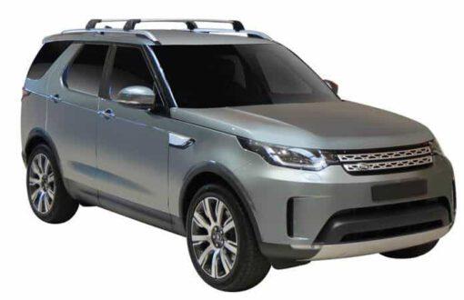 Whispbar Dakdragers (Zilver) Land Rover Discovery 5 5dr SUV met Geintegreerde rails bouwjaar 2017 - e.v.|Complete set dakdragers