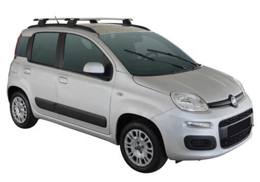 Whispbar Dakdragers (Zilver) Fiat Panda 5dr Hatch met Geintegreerde rails bouwjaar 2012 - e.v.|Complete set dakdragers