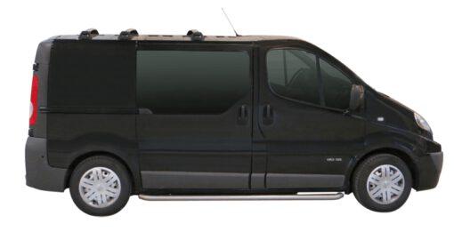 Whispbar Dakdragers Zilver Renault Trafic SWB 5dr Van met Vaste bevestigingspunten bouwjaar 2006-2015 Complete set dakdragers