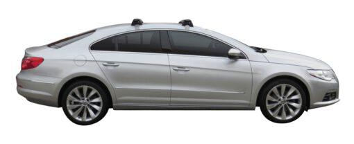Whispbar Dakdragers Zilver Volkswagen Passat CC 4dr Coupe met Glad dak bouwjaar 2008-2011 Complete set dakdragers
