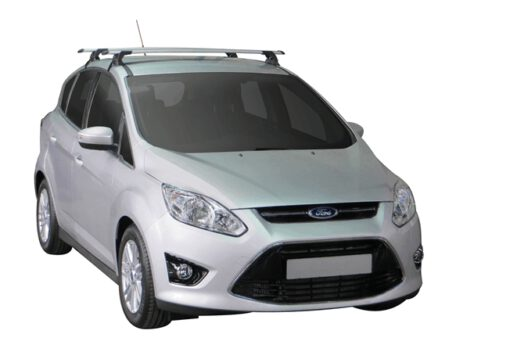 Whispbar Dakdragers Zilver Ford C Max 5dr MPV met Glad dak bouwjaar 2010-2015 Complete set dakdragers