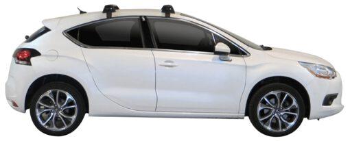 Whispbar Dakdragers Zilver Citroen DS4 5dr Hatch met Glad dak bouwjaar 2010-2015 Complete set dakdragers