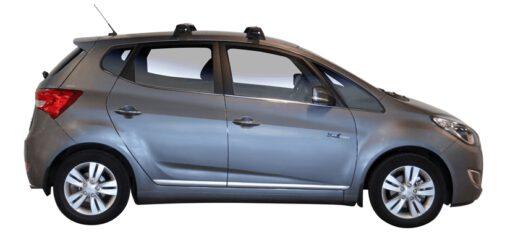 Whispbar Dakdragers Zilver Hyundai IX20 5dr Hatch met Glad dak bouwjaar 2010-e.v. Complete set dakdragers