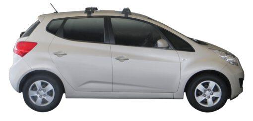 Whispbar Dakdragers Zilver Kia Venga 5dr Hatch met Glad dak bouwjaar 2010-e.v. Complete set dakdragers