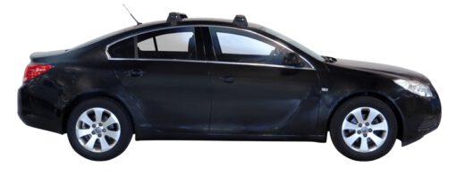 Whispbar Dakdragers Zilver Vauxhall Insignia 4dr Sedan met Glad dak bouwjaar 2009-2017 Complete set dakdragers
